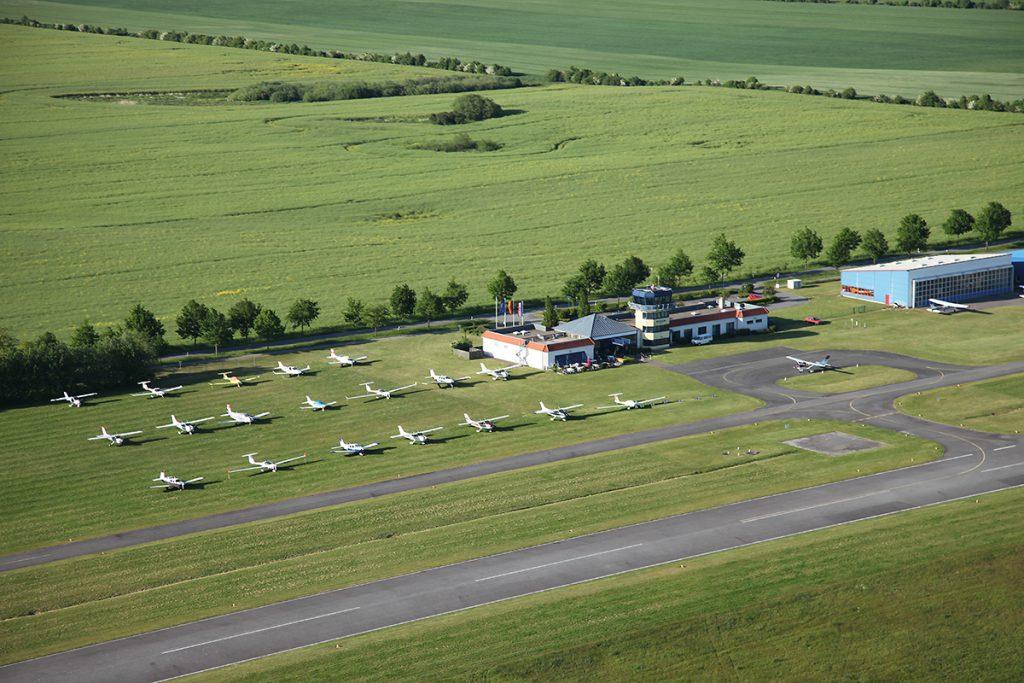Flugplatz Güttin aus der Luft
