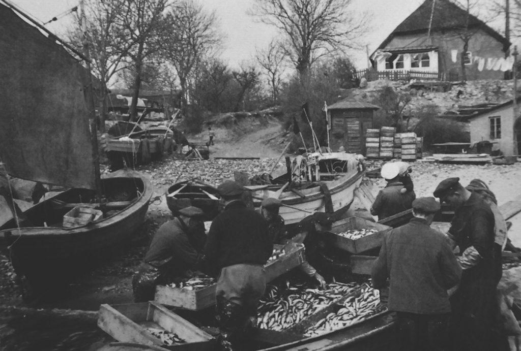 Historisches Bild vom Hafen in Vitt