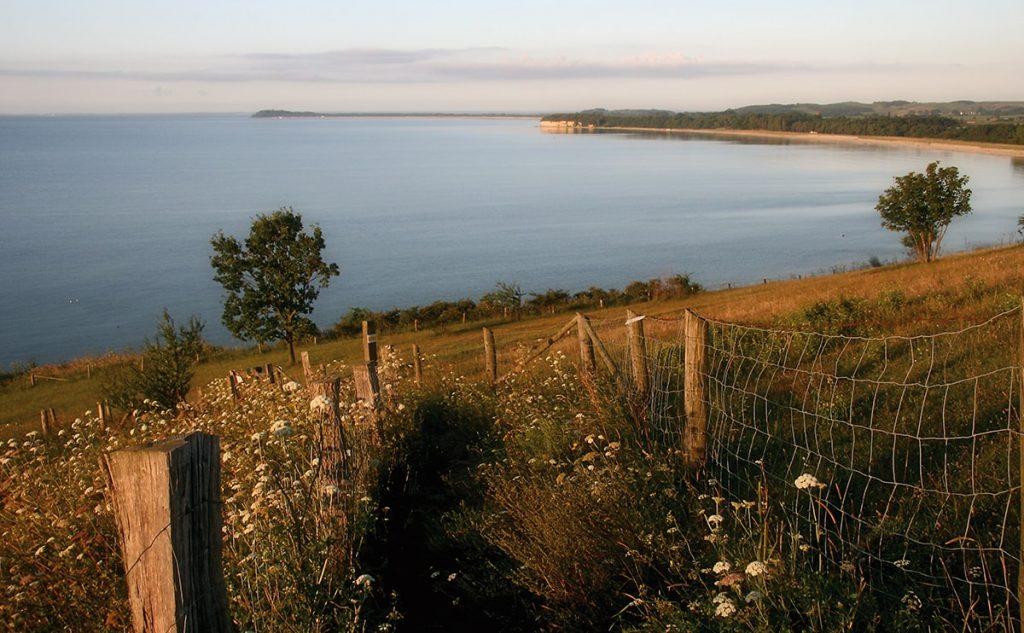 Blick auf die Ostseeküste von Göhren nach Thiessow