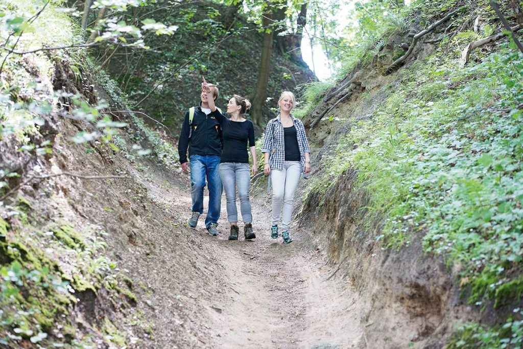 Junge Leute beim Wandern in der Natur von Göhren