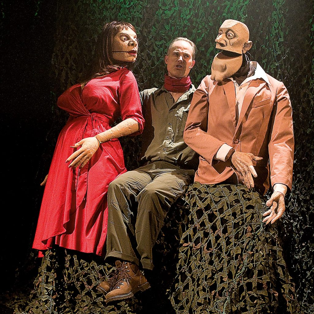 """Bühnenszene des Theaterprojekts """"Der Garten der Lüste"""""""